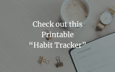 """Check out this Printable """"Habit Tracker"""""""