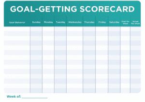 goal-getting scorecard